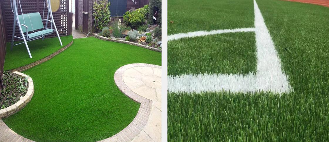 искусственная трава на даче и на спортивном объекте