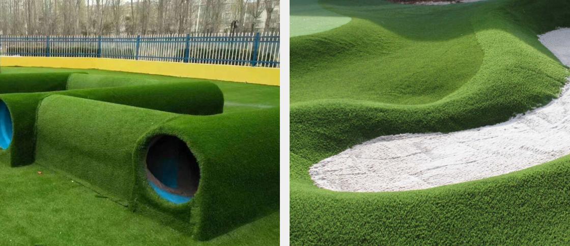 пример использования искусственной травы для ландшафта