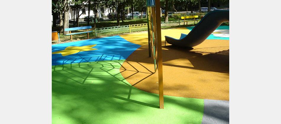 детская площадка с модульным покрытием